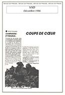 Coup de cœur de VSD – décembre 1986